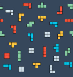 Retro game seamless pattern background vector