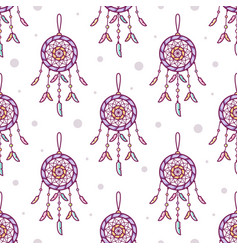 Seamless pattern dreamcatchers vector