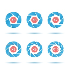 Segmented aperture circle vector