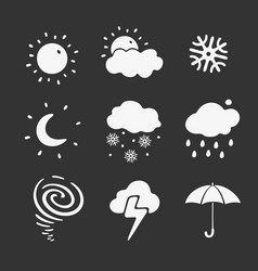 Set of symbols weather forecast vector