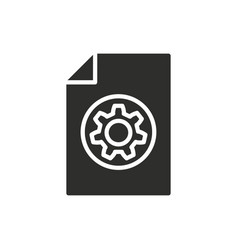 setting icon vector image