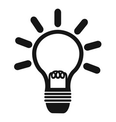 simple lightbulb icon vector image