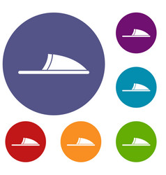 slippers icons set vector image