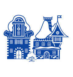 small village house icon simple style vector image