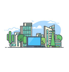 smart city concept vector image