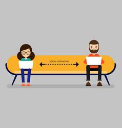 Social distancing concept people keep distance vector