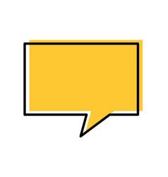 speech bubbles communication dialog message vector image