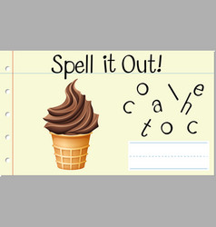 Spell it out chocolate vector