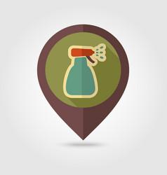 spray bottle pulverizer sprayer pin map icon vector image