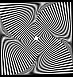 Squares with rotating distortion abstract vector