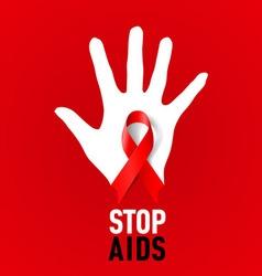 Stop aids 03 vector