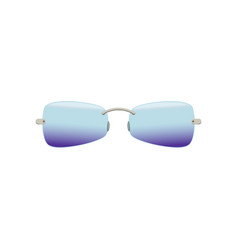 Stylish sunglasses with polarized blue-purple vector