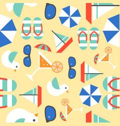 summer vacation seamless pattern theme sail boat vector image