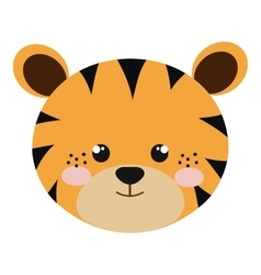 Tiger animal cartoon vector