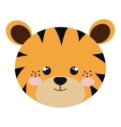 Tiger animal cartoon vector