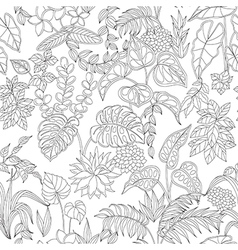 Tropic pattern monochrome vector