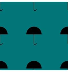 Umbrella web icon flat design Seamless gray vector image