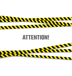 warning banner with important message attention vector image