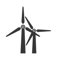 Wind farm power icon graphic vector