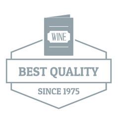 wine menu logo simple gray style vector image