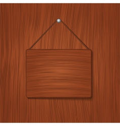 wooden baord vector image vector image