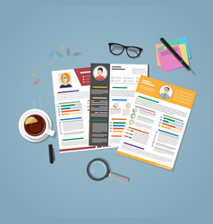 Workplace for recruitment vector