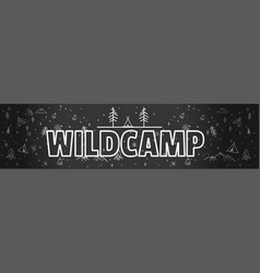 black and white hand drawn typography banner for vector image vector image
