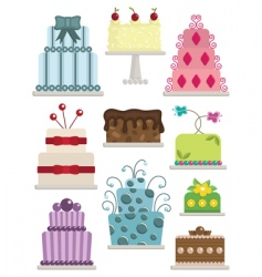 decorated cakes vector image