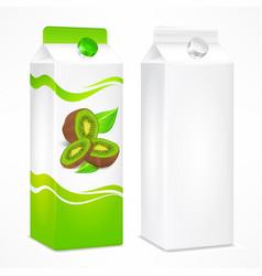 kiwi juice package vector image vector image
