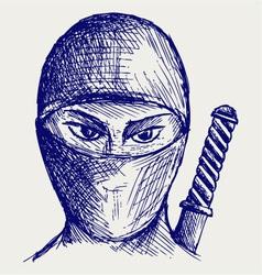 Ninja assassin vector image vector image