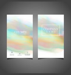 watercolour business card design vector image