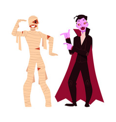 young man dressed in halloween party costumes - vector image vector image