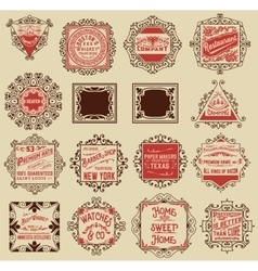 Advertisement designs and labels vector image