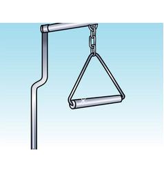 trapeze bar vector image vector image