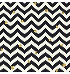 Chevron seamless pattern Black zigzag lines and vector image
