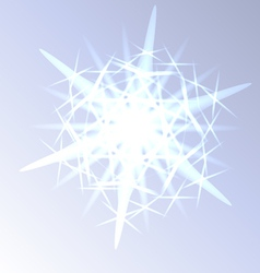 Light snowflake closeup vector image vector image