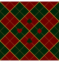 Card Suits Green Royal Red Diamond Background vector image vector image