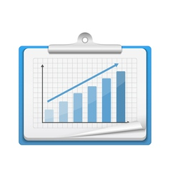 Clipboard with Bar Graph vector image vector image