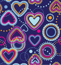 dotty hearts seamless wallpaper vector image vector image