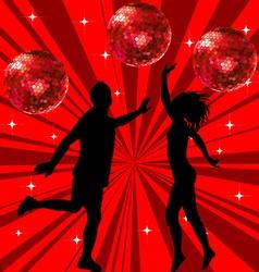 Man and woman dancing vector image vector image