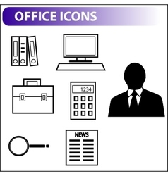 Retro icons for business vector image vector image