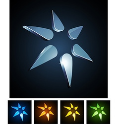 3d star emblems vector image