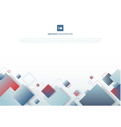 Abstract blue and red gradient color square vector