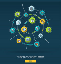abstract cyber security background digital vector image