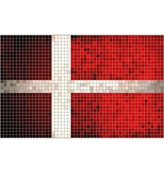 Abstract Mosaic flag of Denmark vector image