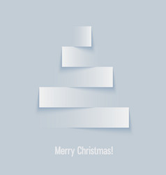 Abstract paper christmas tree vector