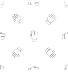 All finger pattern seamless vector