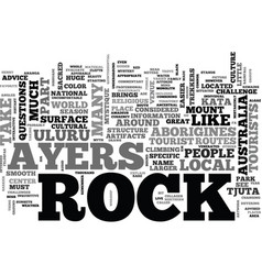 Ayers rock mystery in the desert text word cloud vector