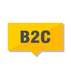 b2c price tag vector image