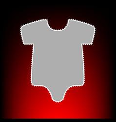 baby cloth vector image